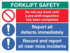 Forklift Safety Report defects and near misses...