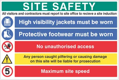 6597 Site safety - hivis, boots, liable for p...