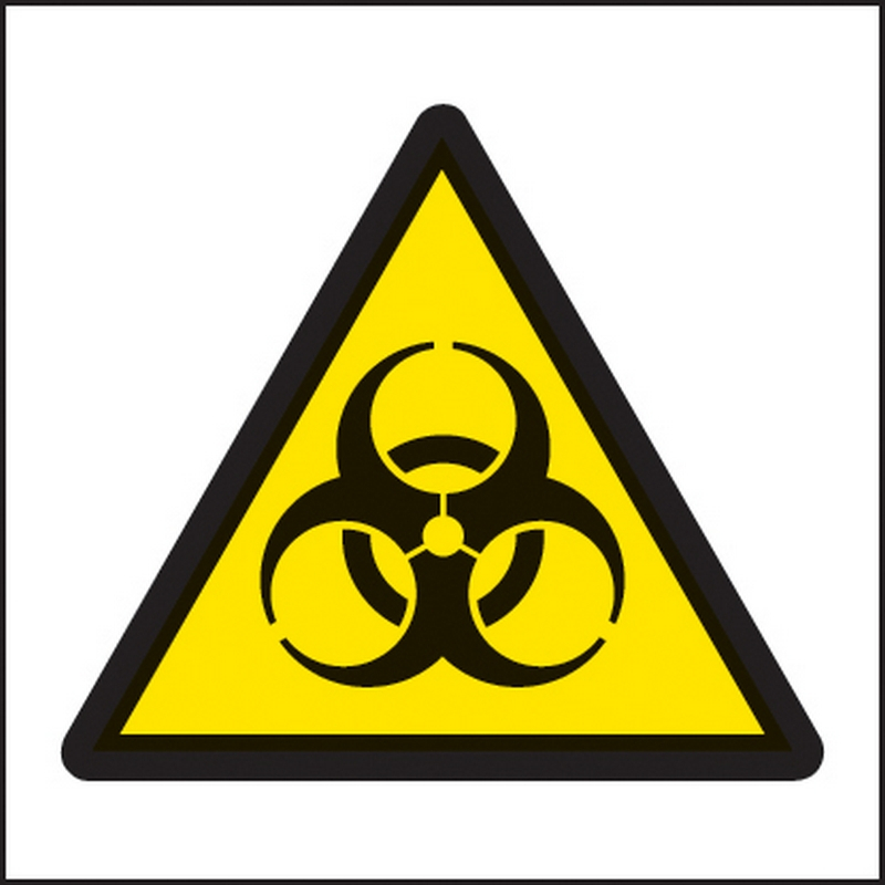 Biohazard symbol (150x150mm)