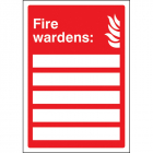 Your fire wardens are (space for 5) adapt-a-sign 215x310mm
