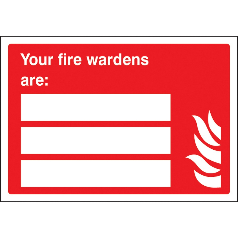 Your fire wardens are (space for 3) adapt-a-sign 215x310mm