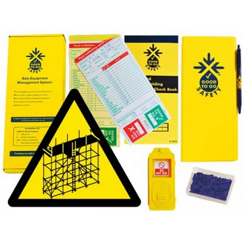 Good to go safety fixed scaffold weekly kit