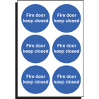 Fire door keep closed 65mm dia - sheet of 6