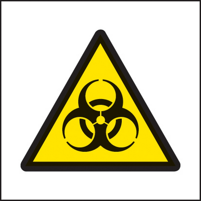 Biohazard symbol 25x25mm self adhesive