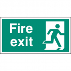 Fire exit right BS single sided 800x400mm 5mm rigid