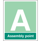 Special Assembly point aluminium c/w channel 250x300mm