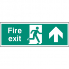Fire exit up single sided 1200x400mm 5mm rigid