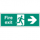 Fire exit right single sided 1200x400mm 5mm rigid