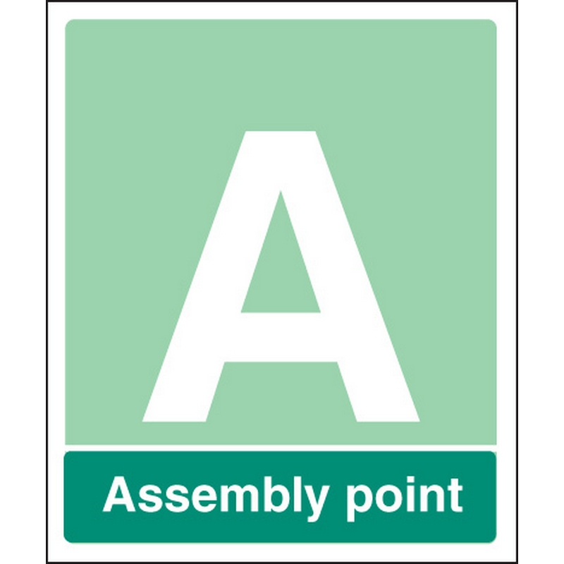Special Assembly point aluminium c/w channel 450x600mm