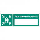 Your assembly point is 450x150mm rigid plastic