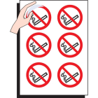 No smoking 75mm dia - sheet of 6