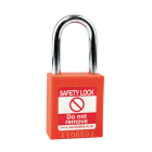 Safety Lockout Padlock, Keyed Different, Orange