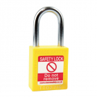 Safety Lockout Padlock, Keyed Different, Yellow