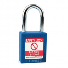 Safety Lockout Padlock, Keyed Different, Blue