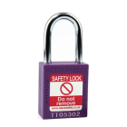 Safety Lockout Padlock, Keyed Different, Purple