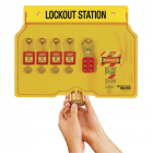 Lockout Station, 4 Lock Capacity, Includes Contents