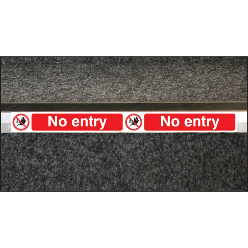 No entry step strip 400x35mm