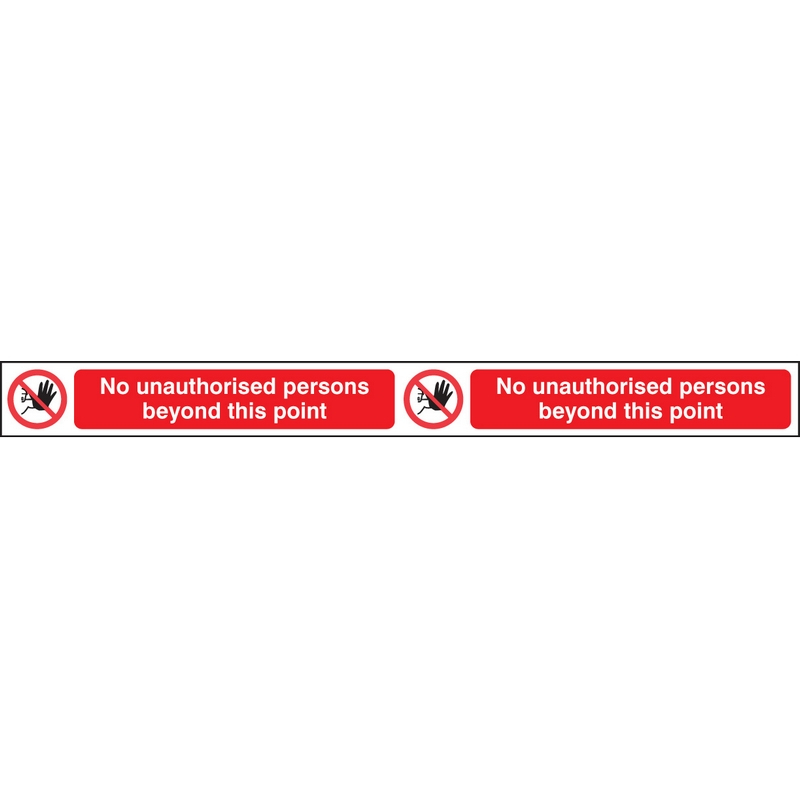 No unauthorised persons beyond this point step strip 400x35mm