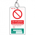 Scaffold Tie Test double sided safety tags (pack of 10)
