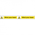 Mind your head strip 400x35mm