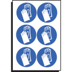 Hand protection symbol 50mm dia - sheet of 6