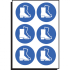 Safety boots symbol 100mm dia - sheet of 6
