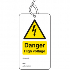 Danger high voltage double sided safety tags (pack of 10)