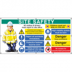 Site Safety banner (as 58038) c/w eyelets