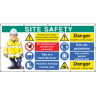Site Safety banner (as 58037) c/w eyelets
