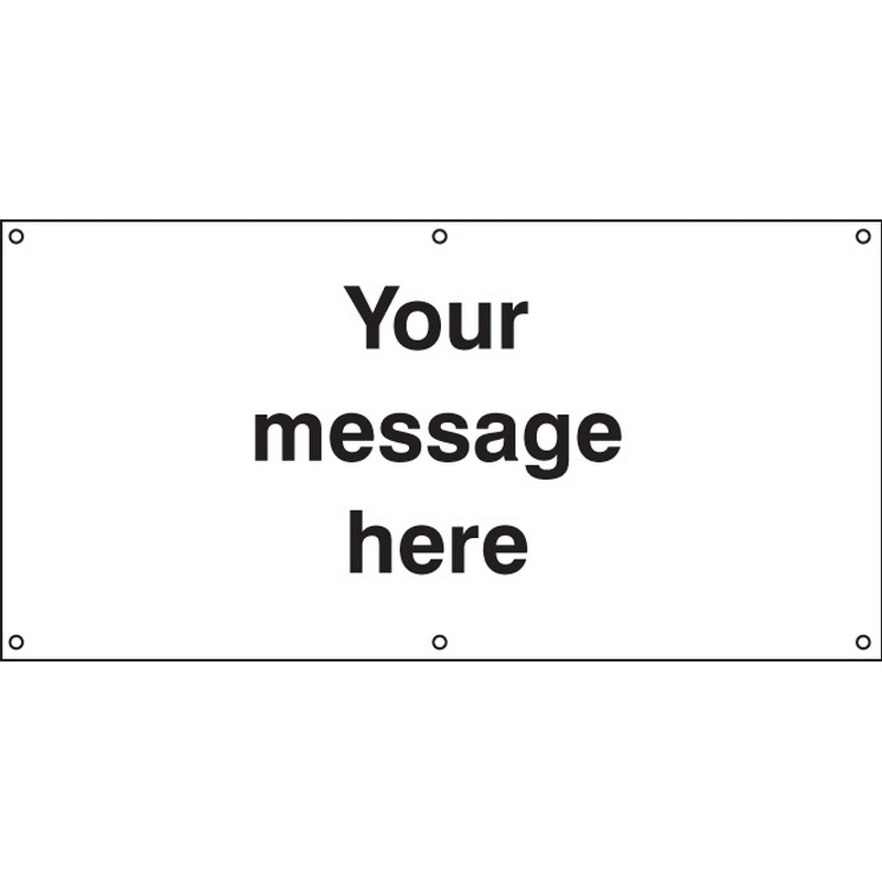 Design Your Own Banner c/w eyelets 2440x1270mm