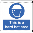 Scaffold Banner - This is a hard hat area (c/w loops)