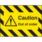 Door Screen Sign- Caution out of order 600x450mm