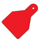 Plain ID Wide Flag Tags (Pack of 20) Red 100x65