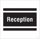 Reception, site saver sign 400x400mm