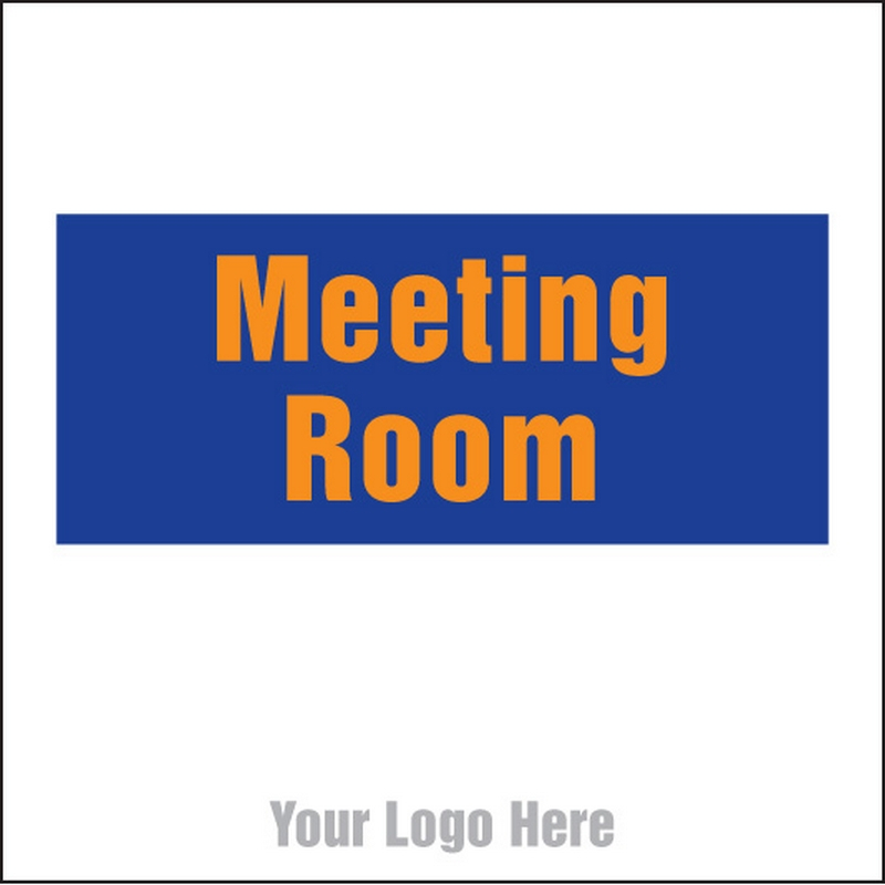 Meeting room, site saver sign 400x400mm