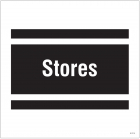Stores, site saver sign 400x400mm