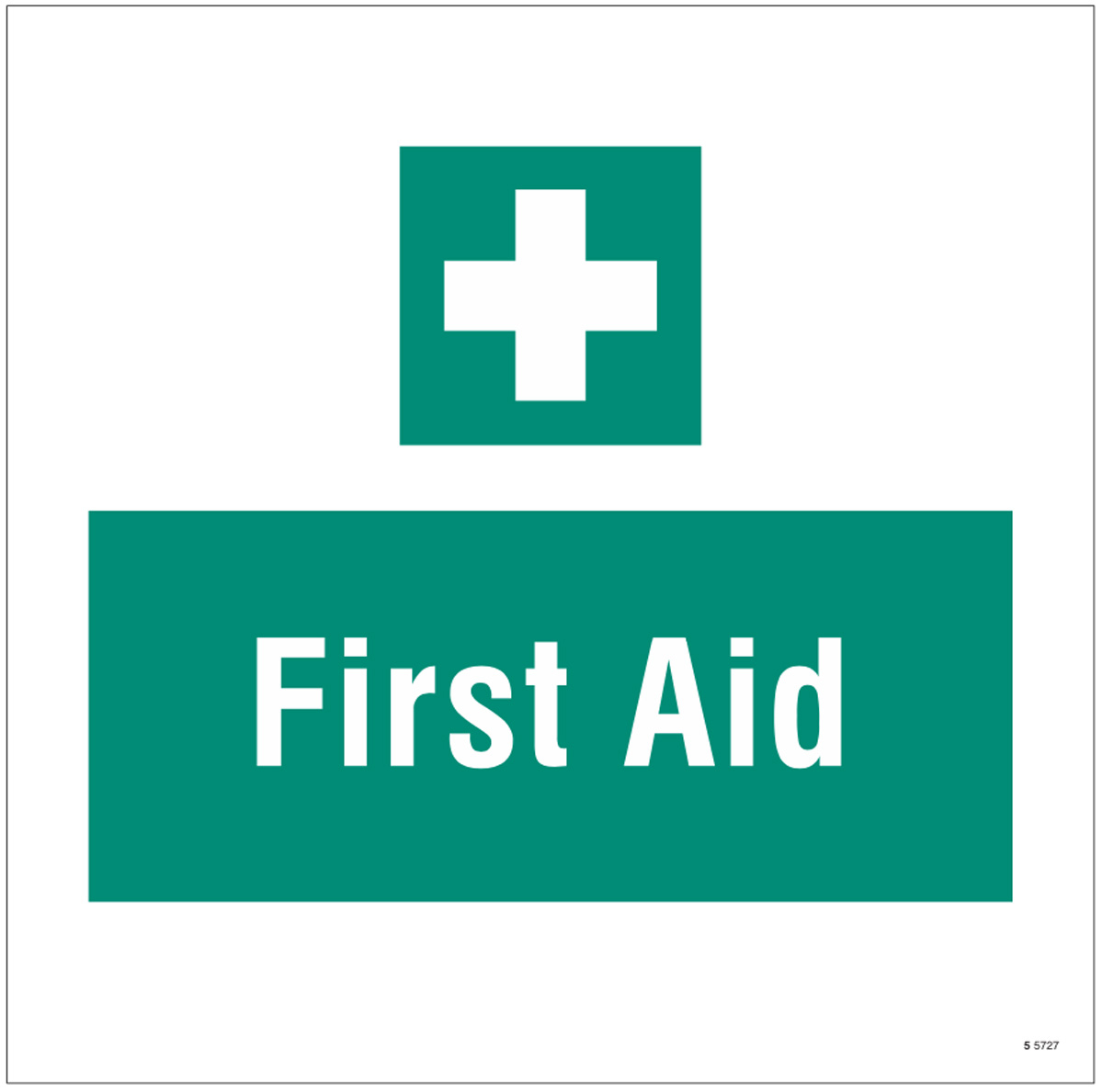 First aid, site saver sign 400x400mm