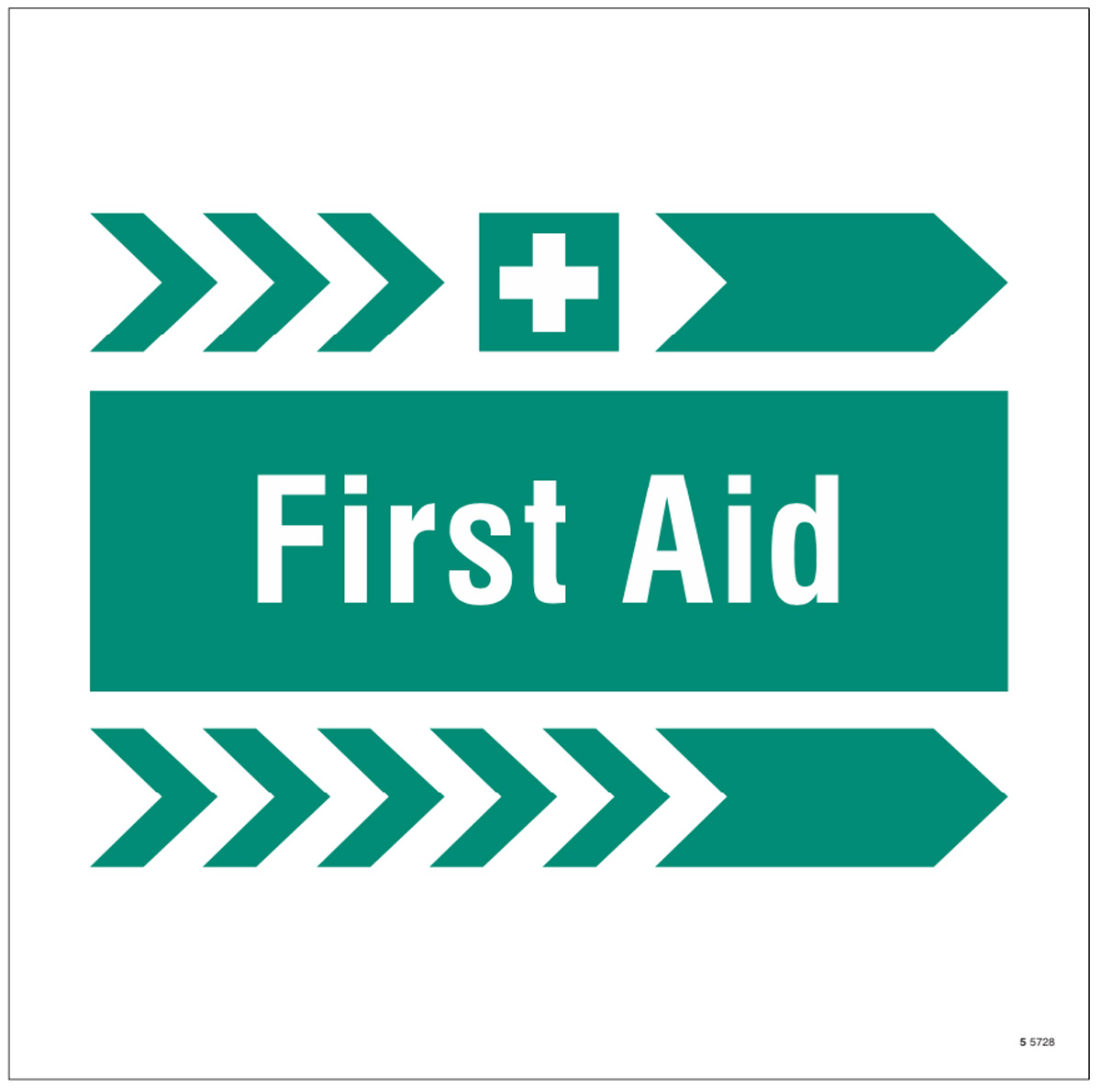 First aid, arrow right site saver sign 400x400mm