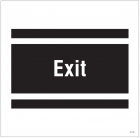 Exit, site saver sign 400x400mm