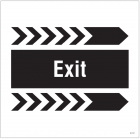 Exit, arrow right site saver sign 400x400mm