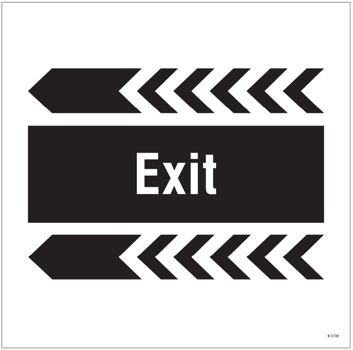 Exit, arrow left site saver sign 400x400mm