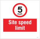 5mph Site speed limit, site saver sign 400x400mm