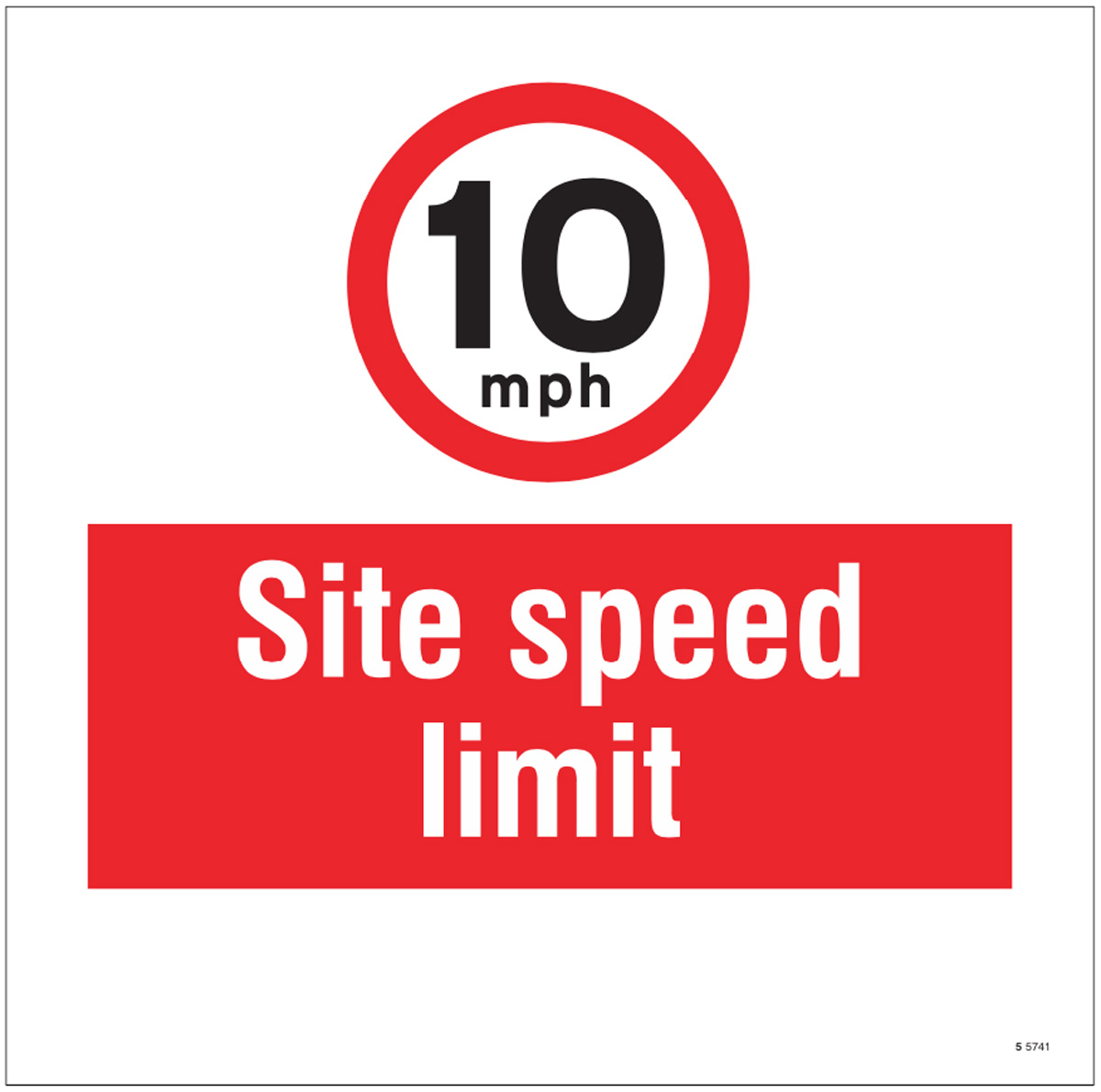 10mph Site speed limit, site saver sign 400x400mm
