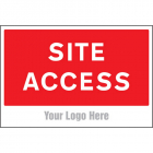 Site access, site saver sign 600x400mm