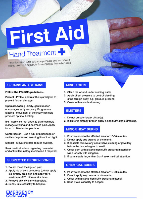 First aid hands 420x594mm poster