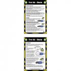 First aid shocks 80x120mm pocket guide