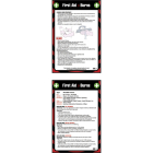 First aid burns 80x120mm pocket guide