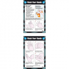 Wash your hands 80x120mm pocket guide