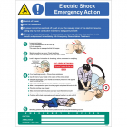 Electric shock emergency action wall panel 450x600mm
