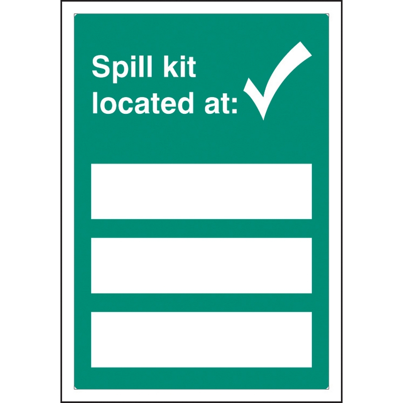 Spill kit located at adapt-a-sign 215x310mm